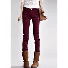 Stylish Slimming Fit Thick Fleece Women's Skinny Pants