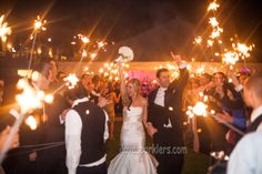 Illuminate the newlyweds send off with the sparklers for wedding receptions! See all options here: http://www.sparklersrus.com/36-Inch-Sparklers-Wedding-Packages_p_66.html