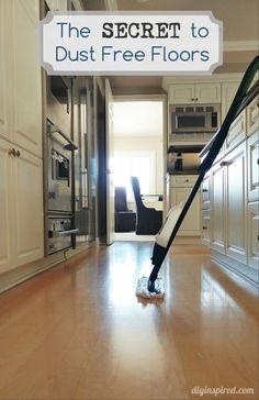 The Secret to Dust Free Floors - DIY Inspired