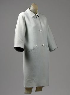 Balenciaga He designed the Square coat during the World War Two. He tended to use heavy fabric and Bold materials.