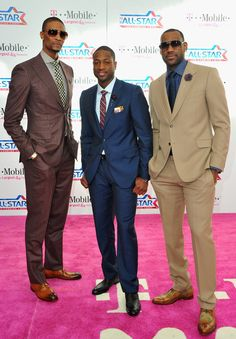 Miami Big 3 looking stylish... #LBJ #CB4 #Dwade