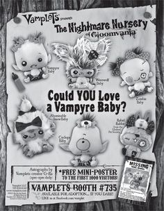 San Diego Comic Con Booth #735! Come find us for a free poster autographed by the designer G-Ra! #Vamplets #Plush #Toys
