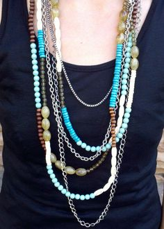 Beaded Multi Layered Necklace $25.00 : ShopBloved, Live Laugh and Bloved