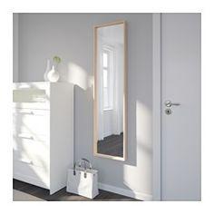 NISSEDAL Espejo, efecto roble tinte blanco - 40x150 cm - IKEA