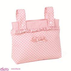 Bolsa panera paula rosa para Cochecitos de munecas la nina