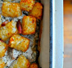 Chicken Bacon Ranch Tater Tot Casserole by hey what's for dinner mom? HELLO COMFORT FOOD!
