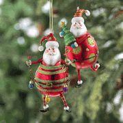 Santa Ornaments set of 2