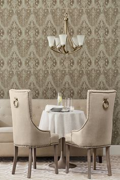 Vinyl Wall Covering, Dining Chairs, Beautiful Wall, Furniture, Home, Interior, Distressed Texture, Home Decor, Brown Walls