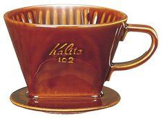Kalita Ceramic Coffee Dripper 102 - Lotto Brown # 02003 Kalita http://www.amazon.co.uk/dp/B0038L2I3A/ref=cm_sw_r_pi_dp_HHW-vb1BDP1ST