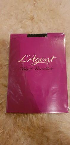 L/'Agent by Agent Provocateur Seam /& Heel Hold Ups 2O Den Black// Black