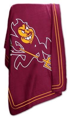 Arizona State Sun Devils ASU Fleece Throw Blanket for asu fan room