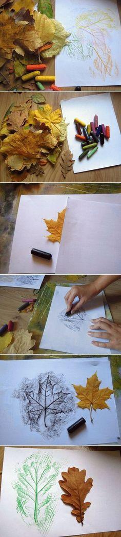 DIY Draw Leaves                                                                                                                                                                                 Mais