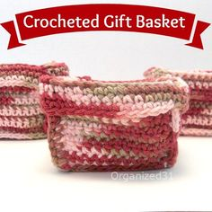 Easy crochet basket, perfect for gift giving or organizing - Organized 31 Love Crochet, Crochet Gifts, Learn To Crochet, Easy Crochet, Crochet Flowers, Crochet Bags, Simply Crochet, Kids Crochet, Crochet Handbags