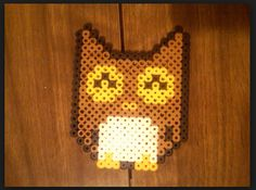 My sister found the pattern for this owl and decided i should make this for her. Owl Perler, Happy Owl, Bead Art, Perler Beads, Artist, Pattern, Fun, Artists, Patterns