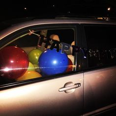 we filled daddy's car with balloons for his birthday tomorrow  #sneaky #birthdays #lovemydaddy #lizzydontlook by lindsaylou515