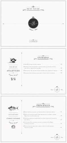 Hotel Ultra. Diseño de menu. Diseñado por Bunker3022.