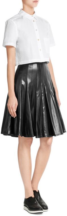 Marc by Marc Jacobs Faux Leather Skirt