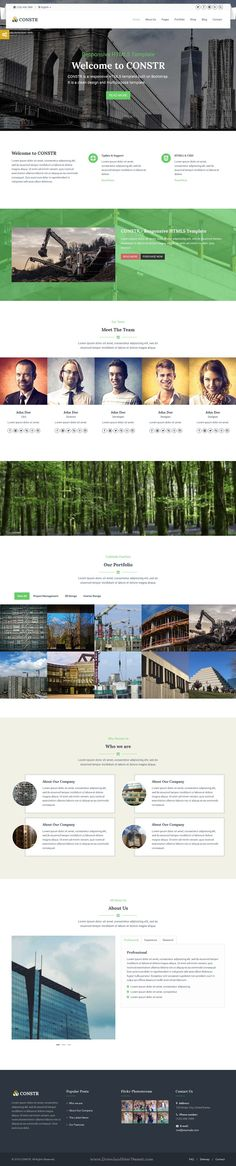 Constr is a responsive and multipurpose HTML5 template built on Bootstrap framework. It is suitable for #Construction Studio, #business and personal #website.
