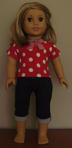 Audrey - jeans en stippen