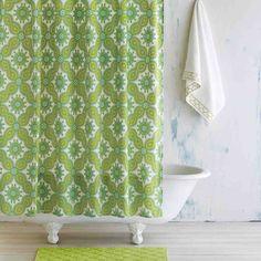 Moss Green Petra Shower Curtain