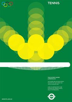 Alan Clarke | Tennis Poster #minimalism