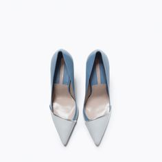 Image 4 of LEATHER TWO-TONE HIGH HEEL COURT SHOE from Zara