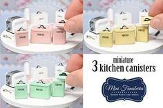 Cocina Set 3 frascos♡ ♡ By MiniFanaberia