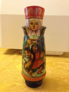 I have decided to do a major purge and I am going to let go of some lovely amazing items. This is a Russian decorative bottle holder by one of the most famous Russian artists, Marina Nadezdina. Matryoshka Doll, Russian Fashion, Bottle Holders, Beautiful Dolls, Art Dolls, Artists, Amazing, Decor, Saints