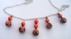 Coral necklace  handmade coral  beads four by LiloLilsEmporium