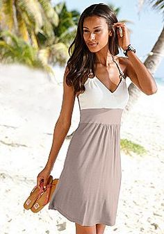 cute color blocking and straps. like form fitted top, looser skirt