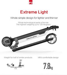 FASTWHEEL F0  2016 new  electric scooter electric bike lithium cell electronic bicycle electric unicycle weight only 8KG-in Electric Bicycle from Sports & Entertainment on Aliexpress.com   Alibaba Group