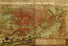 Map of Cairo, Egypt from 1549