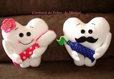 Dental Kids, Dental Art, Felt Crafts, Diy And Crafts, Arts And Crafts, Felt Puppets, Christmas Applique, Tooth Fairy Pillow, First Tooth