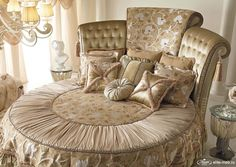 Bed round QUEEN, NOTTI MAGICHE, BM STYLE - By Style - Catalog