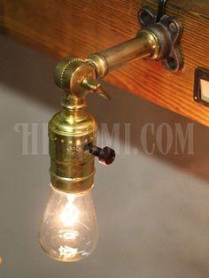 USAヴィンテージ工業系アルミ製Fソケット角度調整付ブラケットランプE/アンティーク壁掛け照明ライト