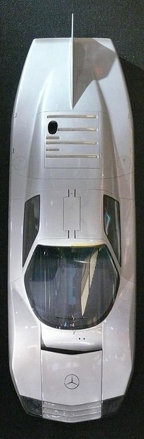 Mercedes-Benz C 111-III Diesel-Rekordwagen silver 1978