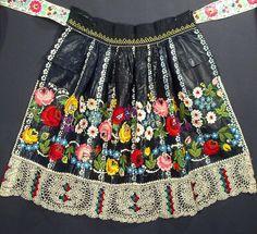 Antique Apron Moravian Hand Embroidered Czech Folk Costume Indigo Blue Print Art   eBay