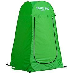 Our multipurpose reusable popup pod is ideal for many different uses due to its lightweight, bright color developed and designed to maximize your outdoor experience. Pop-up Pod from GigaTent is very easy to use, Made with high-quality polyester taffeta 190 T water-resistant coating. Includes a flexible steel frame for premium durability. This tent is designed to withstand the elements plus engineered with long-lasting repeat use in mind. Set includes 4 stakes that should be used to secure… Pop Up Changing Room, Portable Outdoor Shower, Portable Bathroom, Rain Shelter, Pop Up Play, Surf, Shower Tent, Camp Shower, Outdoor Shelters