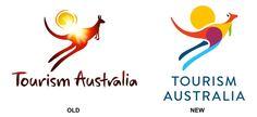 Antes y después del restyling de marca de Australia