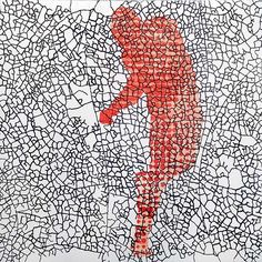 Patsy Payne  Disperse 1 2014  Intaglio, chine collé 75 x 56cm edition of 10