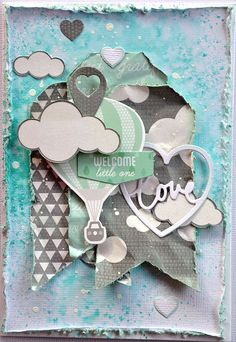 Шебби-открытка для малыша. Эта коллекция в Scrapbook.kz: http://www.scrapbook.kz/products/73/