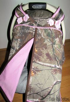 Realtree AP Camo and Pink Baby Girl Car by classykidscreations, $40.00