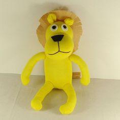 Handmade Yellow Sock Lion Stuffed Animal Doll Baby Toys. $15.99, via Etsy.