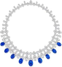Dazzle yourself in Harry Winston's Cascading Drop Tulip Sapphire and Diamond Necklace set in Platinum! More incredible jewels here: http://www.balharbourshops.com/limited-edition-archives