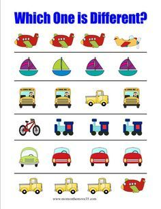 Which One is Different- Transportation Activities of all kinds at www.momonthemove35.com