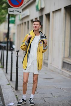 parka chic. #AlyoshaKovalyova #offduty in Paris.