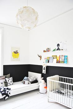 A dream nursery for Hayden Panettiere // kids room, nursery, black and white