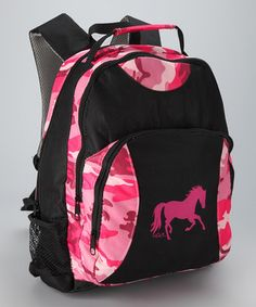 Hot Pink Camo Horse Backpack by AWST INTERNATIONAL on #zulily