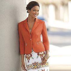 orange blazer womens - Google Search