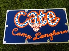painted trunk for camp for A!